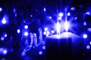 la magia della candela blu